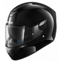 CASCO SHARK D-SKWAL BLANK negro-lateral