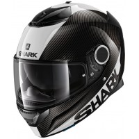 CASCO SHARK SPARTAN CARBON 1.2 SKIN negro-blanco lateral