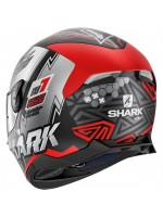 CASCO SHARK SKWAL 2.2 NOXXYS BLACK-RED-SILVER 2